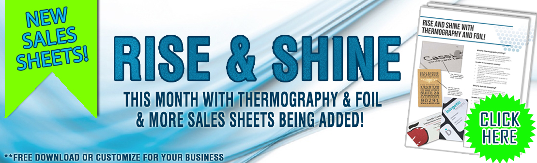 Thermo & Foil Sales Sheet